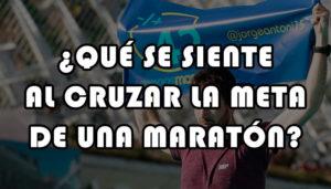meta de una maratón